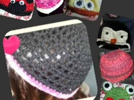 One custom crocheted hat
