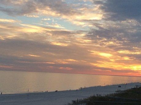 Beach Sunset Magnet Postcard