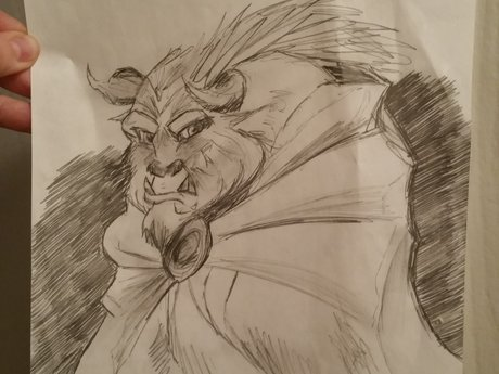 "Disney Pencil Sketch - ""The Beast"""