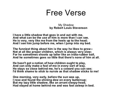 Free Verse Poetry Writing