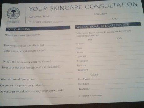 30 Minute Skin Care Consultation