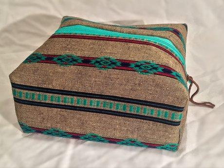 Tan/Teal Native Zoey Bag