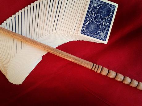 "Single piece Oak wizard wand > 13"""