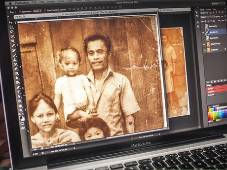 Photo retouching  for old photos