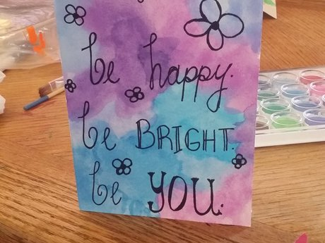 4.5x6 water color greeting card
