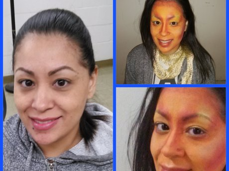 One hour makeup application