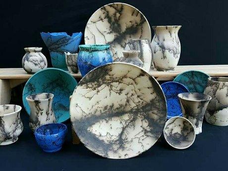 Handmade horse hair pottery