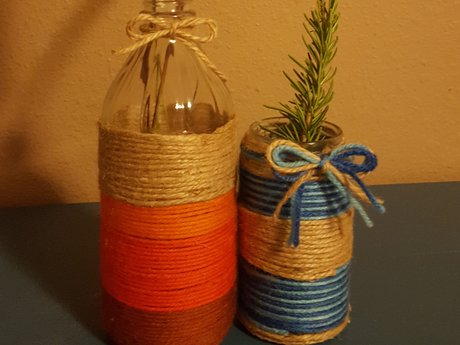 I will make a yarn wrapped vase