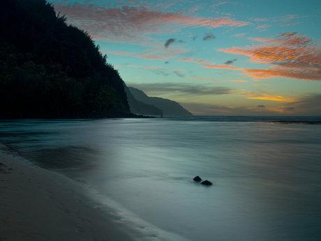 Blue Sunset Desktop BG (Digital)
