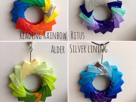 Single piece of origami jewelry