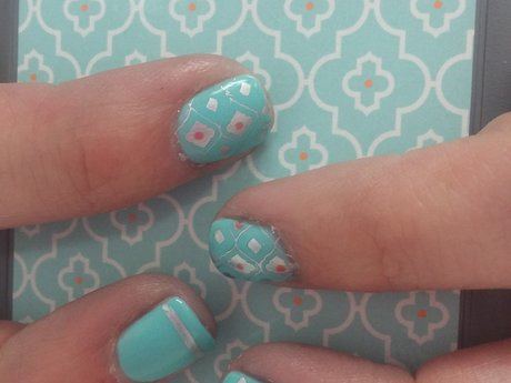 Custom Nail art gel manicure