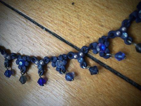 Blue Costume Jewelry Choker