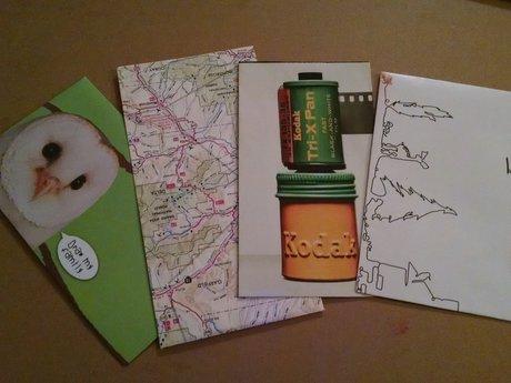 4 upcycled envelopes