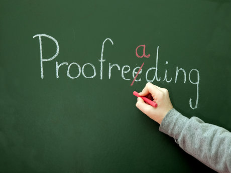 Proofreading an essay or web site