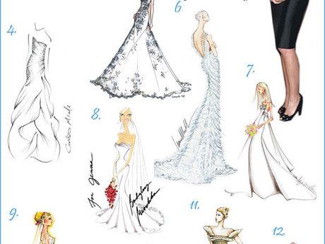 wedding dress design drawing