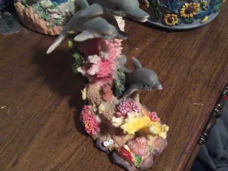 Dolphins/ coral ocean piece.