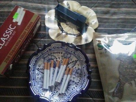 Cigarette tube filling