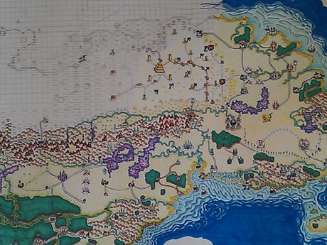 Realistic Hand-Drawn Fantasy Maps