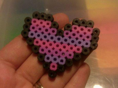 Custom Handmade Perler Bead Heart