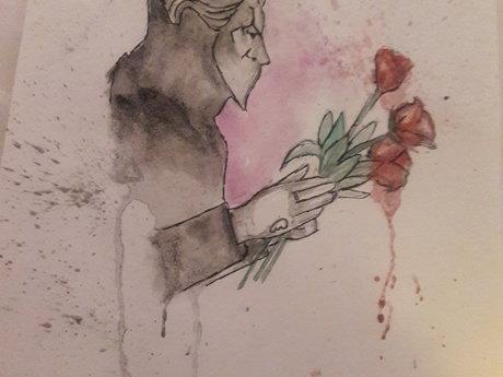 Nameless Ghoul w. Roses