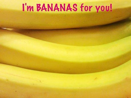Bananas Valentines Magnet Postcard