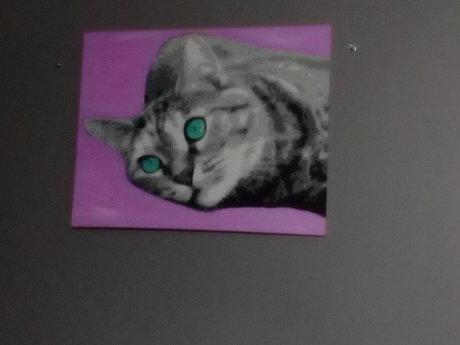 "B&W Pet Painting 8x10"" Acrylic"
