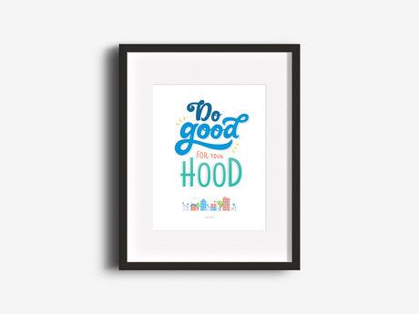 """Do Good"" 8.5x11 Print"