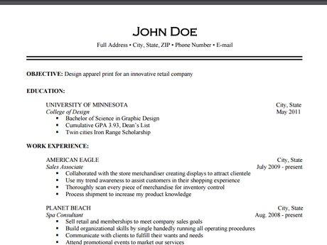 Skilled Resume