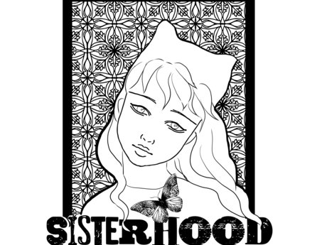 Girl in a Pussy Hat Coloring Page