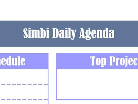 Simbi Printable Agenda