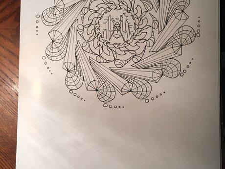 Art: Compass Mandala Signed Print