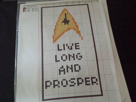 Star Trek Cross Stitch Kit