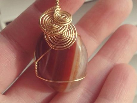 Wire wrap jewelry