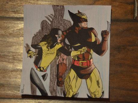 Draw favorite superhero/villain