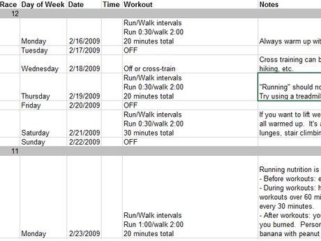 Custom 5k/10k+ runner training plan