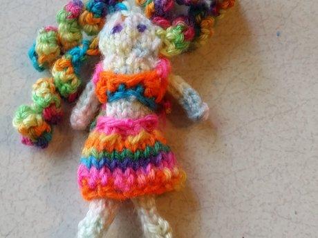 Custom knitted dolls
