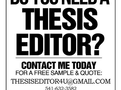 Thesis Proofreading: FREE SAMPLE!!