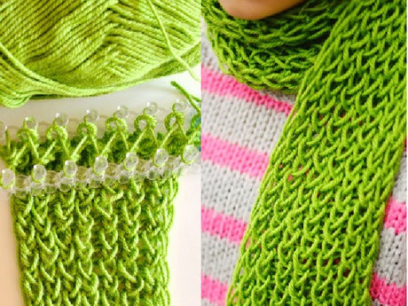 How to knit on a loom