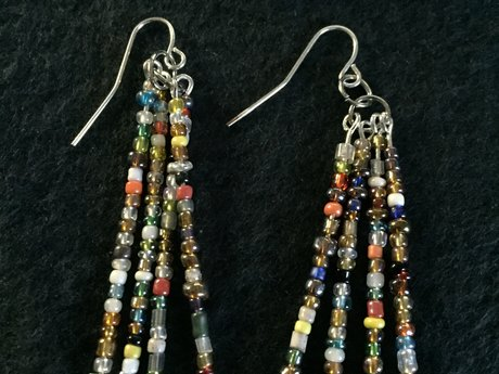 4 strand small bead earrings