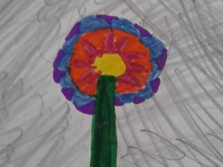 Handmade Greeting card from a kid