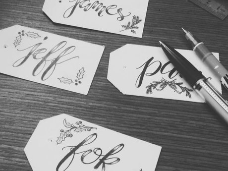 Calligraph a phrase  of your choice