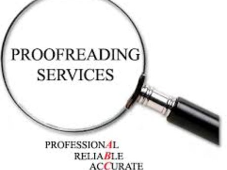 English proofreading and editing
