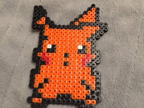 Shiny Pikachu Orange Fuse Beads