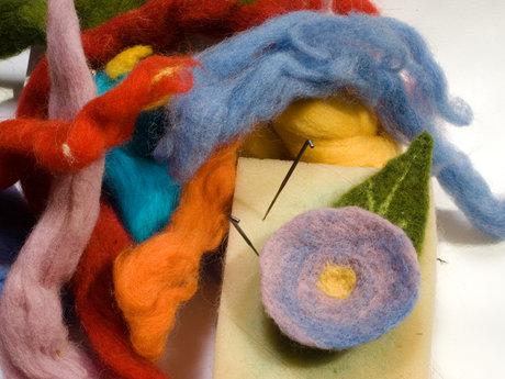 The basics of  needle felting