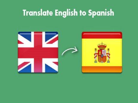 Traducir Español al inglés