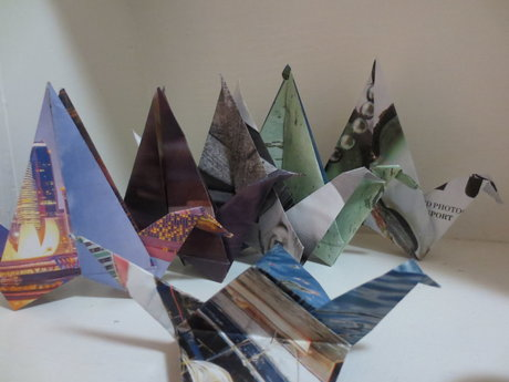 Recycled Origami Paper Crane