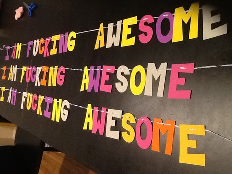 """I am f*cking awesome"" banner"