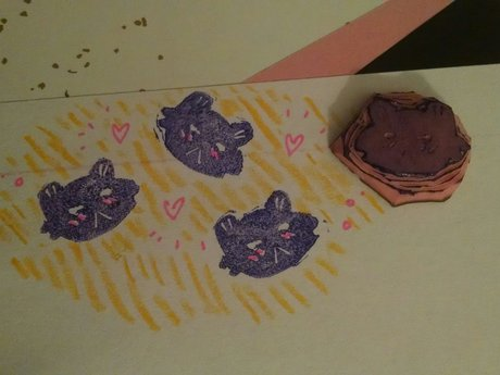 Smol rubber cat stamp