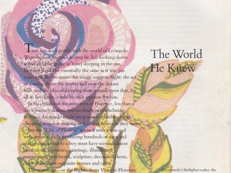 Digital -Leonardo  Book Page -Rose