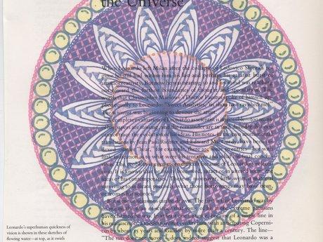 Digital-Leonardo old book-Mandala